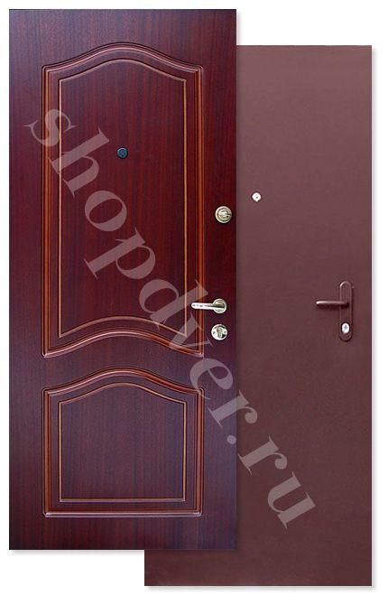 Металлические двери порошковое напыление (антивандальное) + МДФ