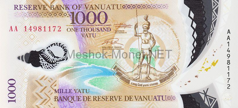 Банкнота Вануату 1 000 вату 2014 год