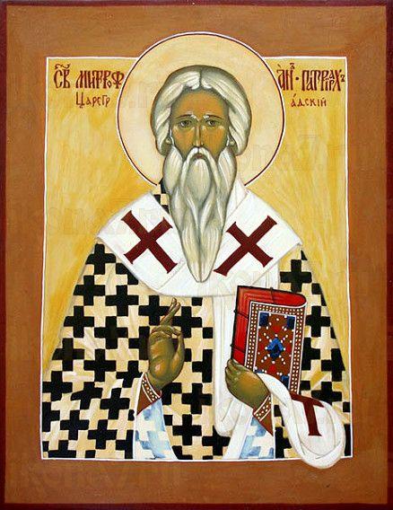 Митрофан Константинопольский (рукописная икона)