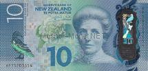 Банкнота Новая Зеландия 10 долларов 2015 год