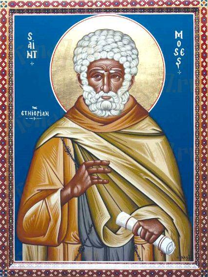Моисей Мурин (рукописная икона)