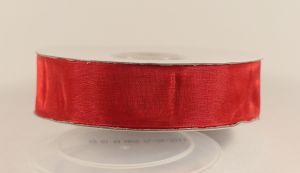 `Лента, органза, ширина 25 мм, цвет красный