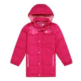 Пуховик adidas Young Kids Junior Down Jacket Long розовый