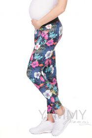 Джегинсы универсальные цвет джинса/цветы
