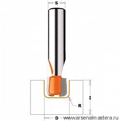 CMT 981.511.11 Фреза по искусственному камню пазовая  S=12 D=15,87x12,7 R=3,17