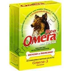 Витамины Омега Neo (Нео) для Собак 90 т. (БИОТИН,ПРОТЕИН)