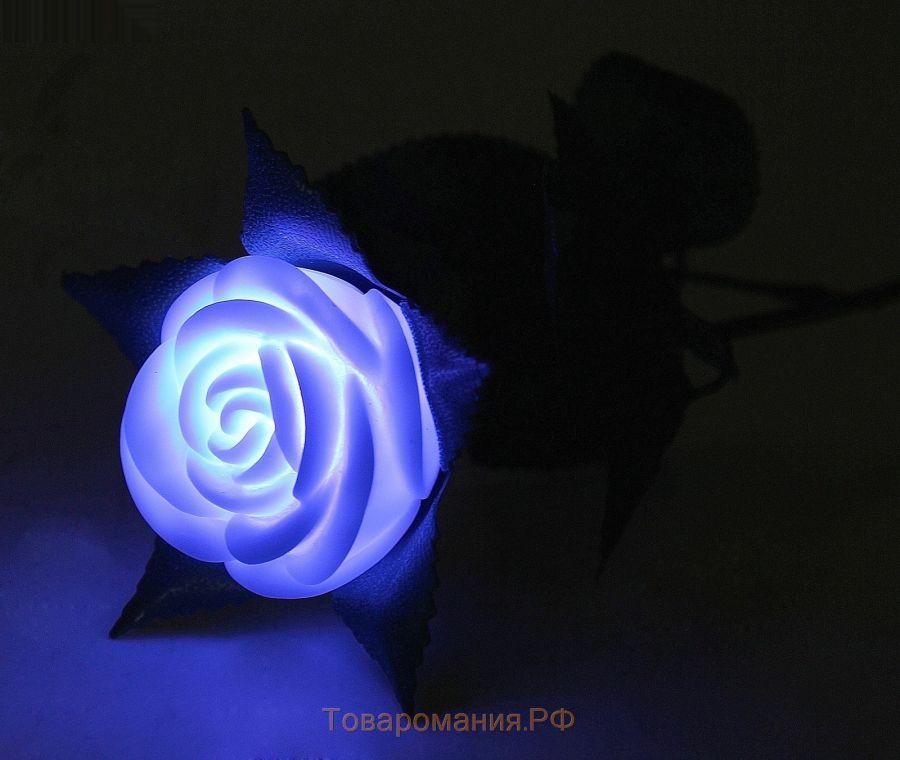 Роза светящаяся ночник 1 штука