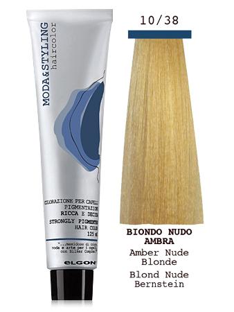 Elgon MODA&STYLING Перманентная крем-краска 10/38 Чистый блонд янтарь