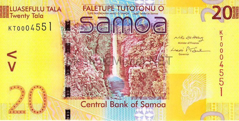Банкнота Самоа 20 тала 2008 год
