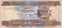 Банкнота Соломоновы острова 20 долларов 2009 год