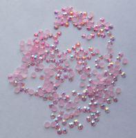 Стразы для дизайна ногтей голограммные (нежно-розовые) 100 штук