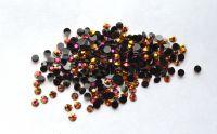 Стразы для дизайна ногтей голограммные (черный с золотым отливом) 1000 штук