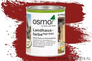 Непрозрачная краска для наружных работ Osmo Landhausfarbe 2308 темно-красная 0,75 л