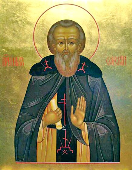 Нил Сорский (рукописная икона)
