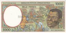 Банкнота Габон 1000 франков 1993 год