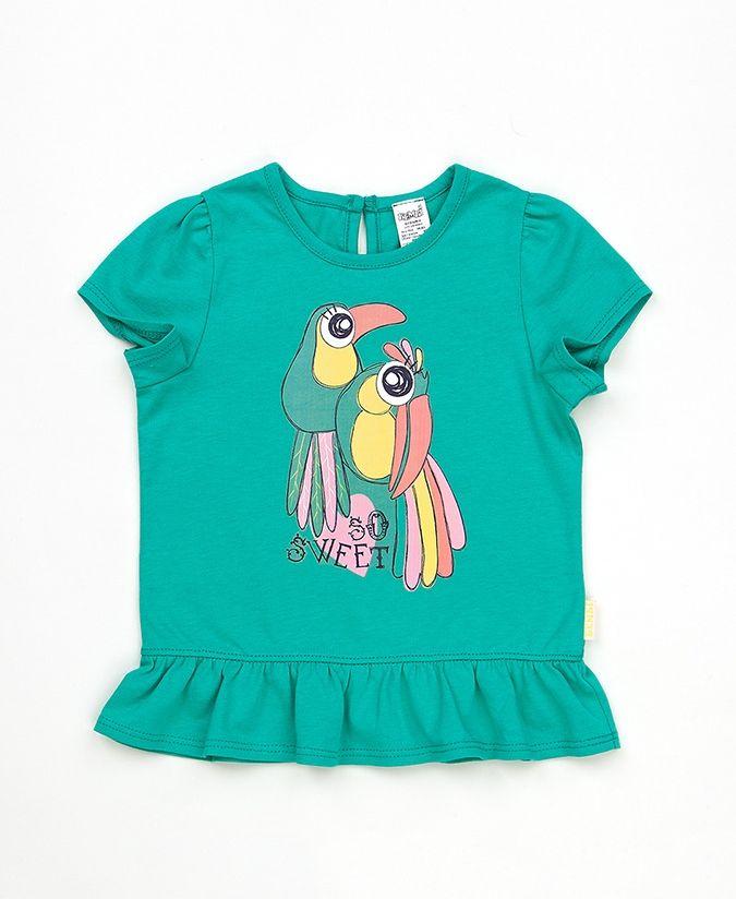Бирюзовая детская футболка