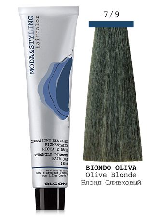 Elgon MODA&STYLING Перманентная крем-краска 7/9 Блонд оливковый