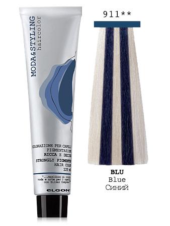 Elgon MODA&STYLING Перманентная крем-краска 911 Синий