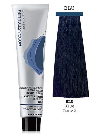 Elgon MODA&STYLING Перманентная крем-краска Синий