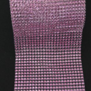 "Лента декоративная ""имитация страз"", ширина 12 см, длина 10 ярдов, цвет: светло розовый"