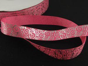 Лента репсовая с рисунком, ширина 22 мм, длина 10 метров цвет: розовый, Арт. ЛР5194-8