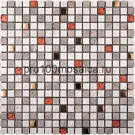 KBE-04 (KB11-E04)  Мозаика Стекло+Кварц+Металл 15*15 KOBE (KBE) 303*303*8 мм (NATURAL)