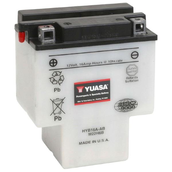 Мото аккумулятор АКБ YUASA (Юаса) HYB16A-AB 16Ач п.п.