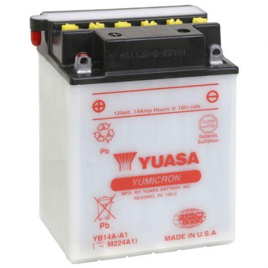 Мото аккумулятор АКБ YUASA (Юаса) YB14A-A1 14Ач п.п.