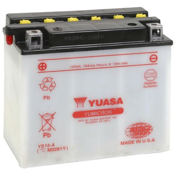 Мото аккумулятор АКБ YUASA (Юаса) YB18-A 18Ач п.п.
