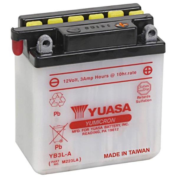 Мото аккумулятор АКБ YUASA (Юаса) YB3L-A 3Ач о.п.