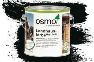 Непрозрачная краска для наружных работ Osmo Landhausfarbe 2703 cеро-чёрная 2,5 л