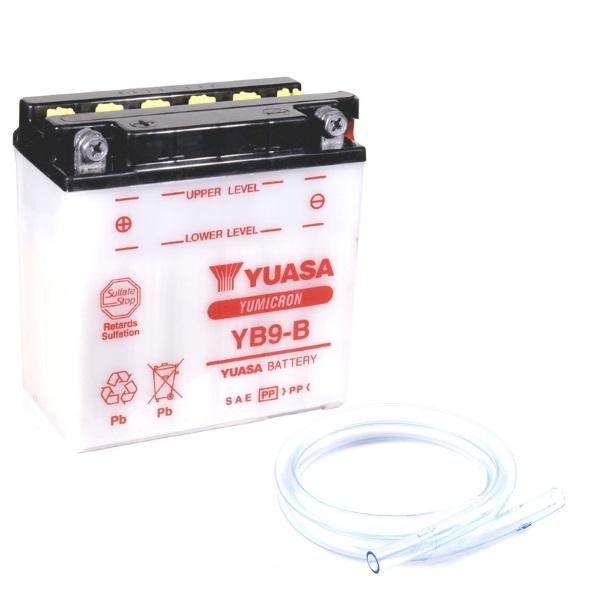 Мото аккумулятор АКБ YUASA (Юаса) YB9-B с электролитом 9Ач п.п.