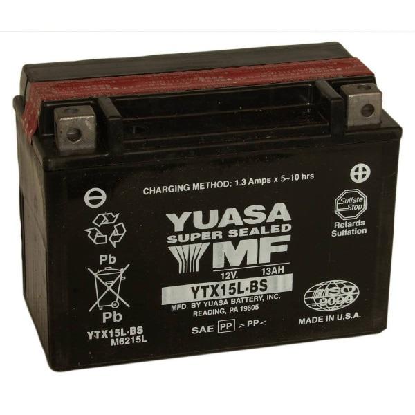 Мото аккумулятор АКБ YUASA (Юаса) YTX15L-BS 13Ач о.п.