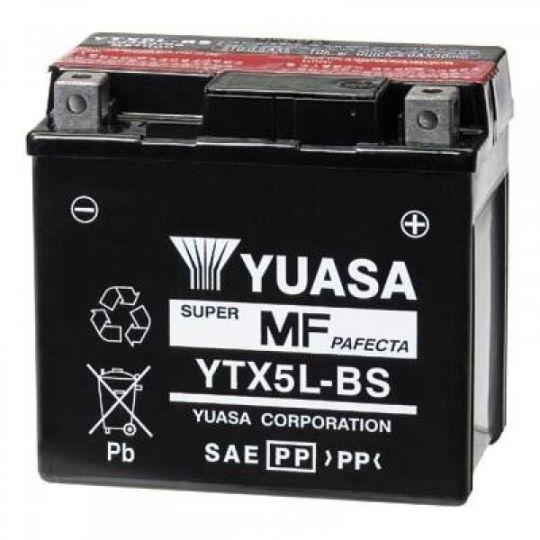 Мото аккумулятор АКБ YUASA (Юаса) YTX5L-BS 4Ач о.п.