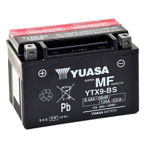 Мото аккумулятор АКБ YUASA (Юаса) YTX9-BS 8Ач п.п.