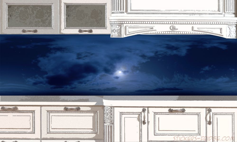 фартук для кухни - Небо-вечер