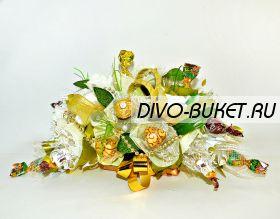 """635 Свадебный букет с конфетами """"Юнона"""""""