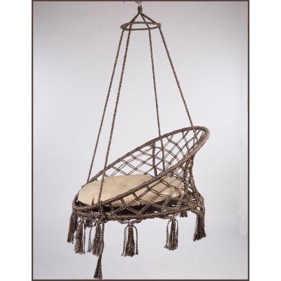 Подвесное кресло-качели АРУБА (бежевая подушка)