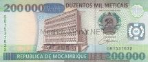 Банкнота Мозамбик 200000 метикал 2003 (2004) год