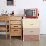 """НОВИНКА"" HN7-303S Sweety Brown(малый) Детский комод для хранения 3-х секционный Haenim toys"