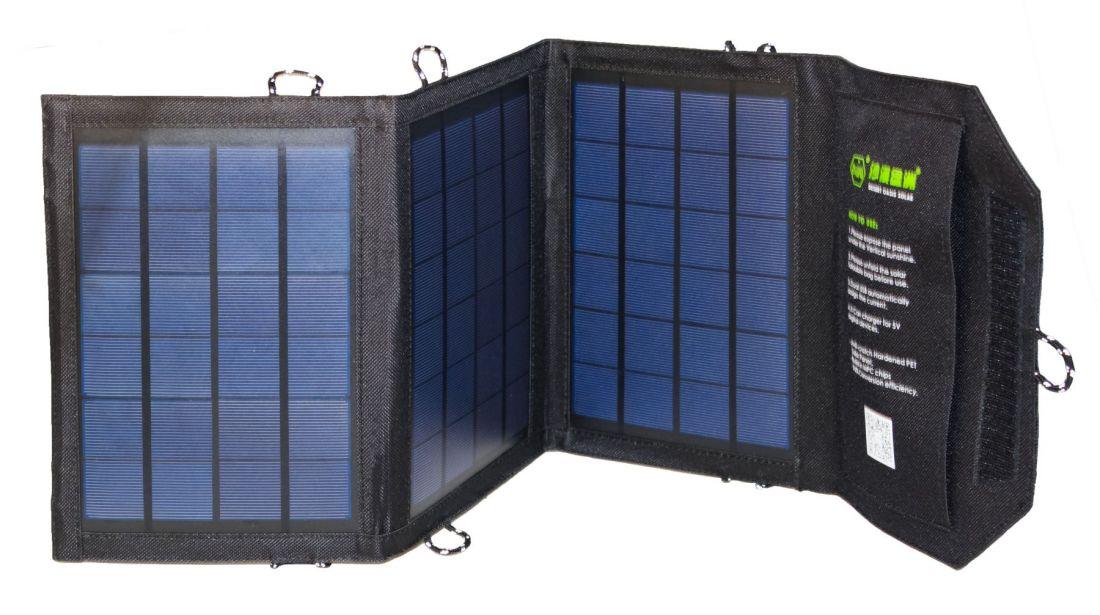 Солнечная батарея 10,5W / 3 панели / 2 USB-порта / 5V 2,1A