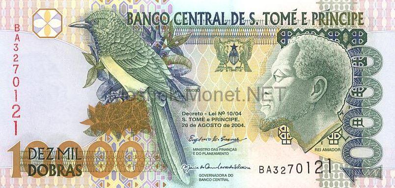 Банкнота Сан-Томе и Принсипе 10000 добра 2004 год