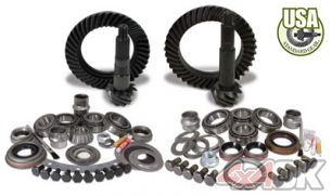 USA Standard Gear & Install Kit package for Jeep XJ & YJ with D30 front & Model 35 rear, 4.56 ratio