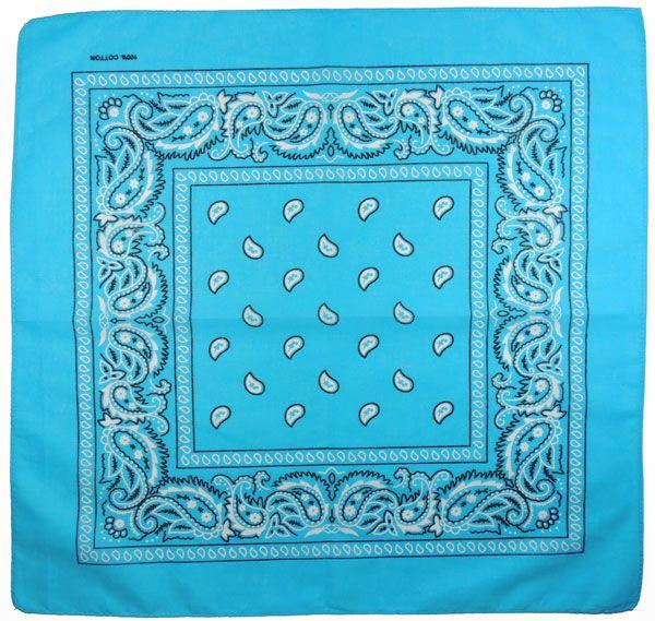 Бандана огурцы в квадрате (голубая)