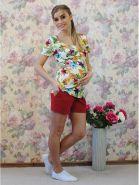 Блузка У-324 для будущих и кормящих мам