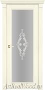 Сливочная карамель, стекло узор матовое