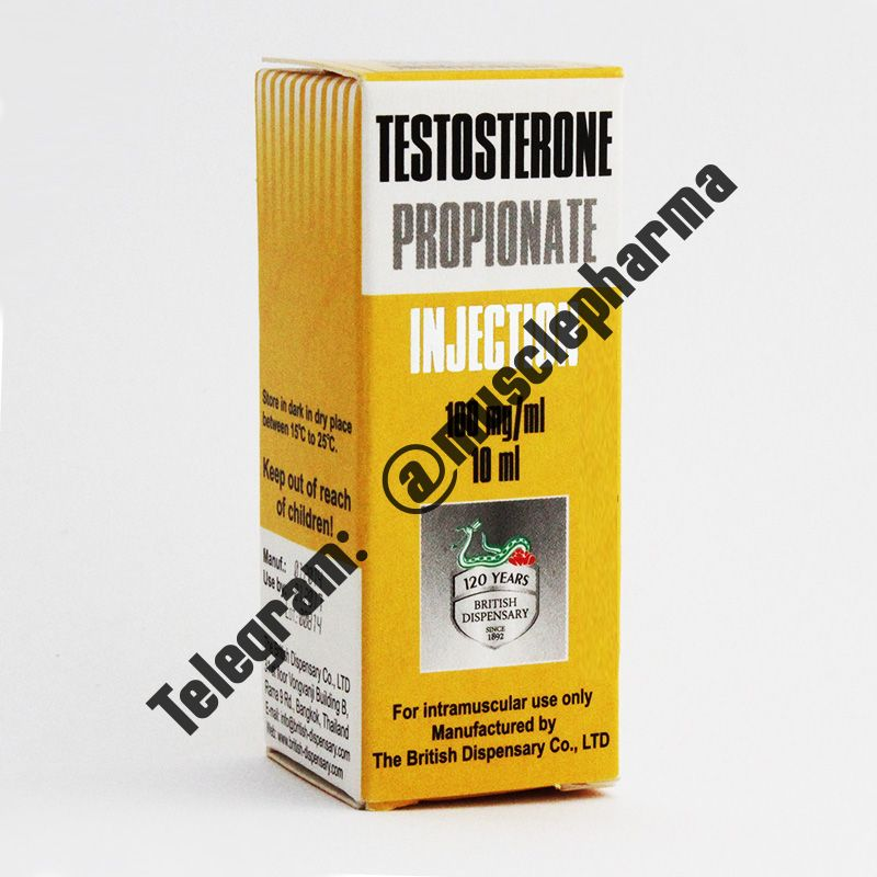 TESTOSTERONE PROPIONAT (BRITISH DISPENSARY). 1 флакон * 10 мл