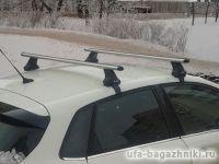Багажник на крышу Citroen C4 sedan / hatchback c 2011 г., Атлант, аэродинамические дуги, опора Е