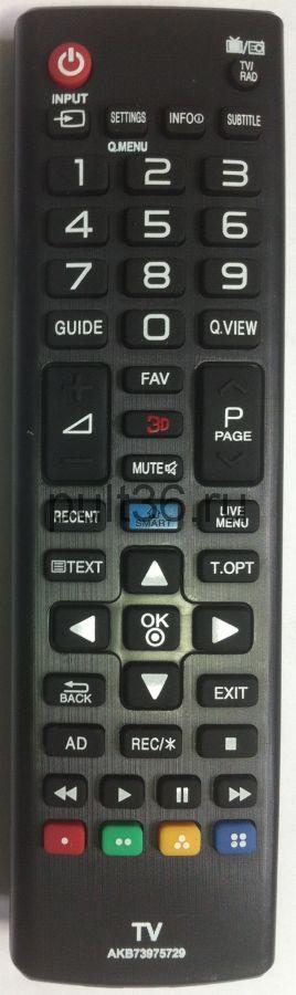 Пульт ДУ LG AKB 73975729 SMART + 3D КНР
