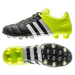 Бутсы adidas Ace 15.1 FG/AG Leather чёрные